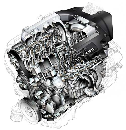 accord-v6-cutawau-engine